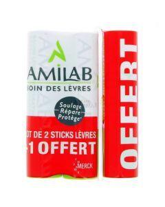 Amilab Baume Lèvres 3 Sticks de 3.6ml
