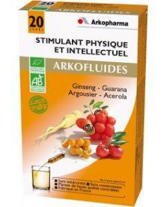Arkopharma Arkofluides Bio Stimulant Physique et Intellectuel 20 Ampoules