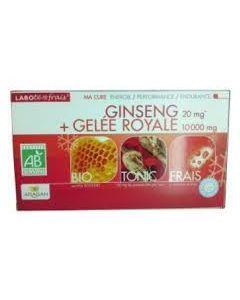 Aragan Gelée Royale et Ginseng Bio 20 Ampoules