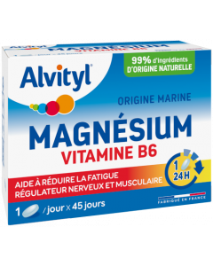 Alvity Magnésium Vitamine B6  45 comprimés