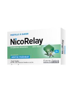NicoRelay Menthe Fraîcheur 24 pastilles
