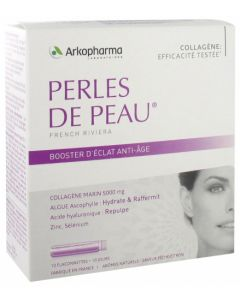 Arkopharma Perles de Peau Booster  d'Éclat Anti-Âge 10 flaconnettes de 25ml
