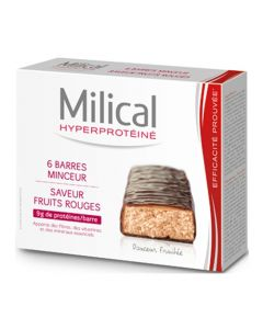 Milical Hyperprotéiné Fruits Rouges 6 Barres
