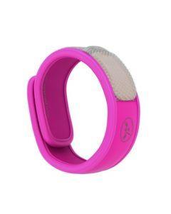 Parakito bracelet anti-moustiques naturel fushia 1 unité + 2 recharges