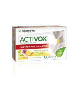 Arkopharma Activox Maux de Gorge Toux Sèche Citron à Sucer 24 comprimés
