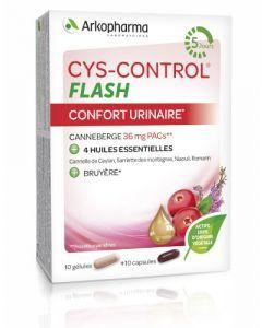 Arkopharma Cys-Control Flash Confort Urinaire Huiles Essentielles 20 gélules