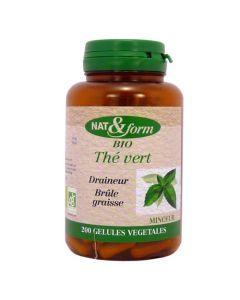Nat&Form Thé Vert Bio 200 Gélules