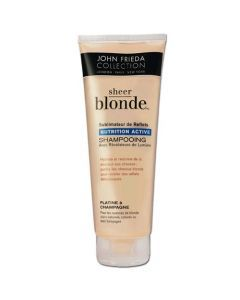 John Frieda Sheer Blonde Shampooing Nutrition Active Platine à Champagne 250ml