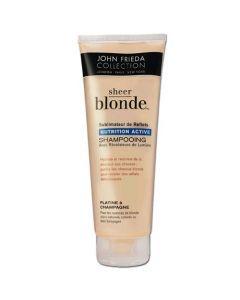 John Frieda Sheer Blonde shampoing Nutrition Active Platine à Champagne 250ml