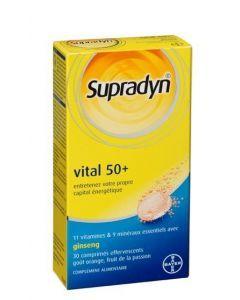 Supradyn Vital 50+ Vitamines Minéraux et Ginseng 30 Comprimés Effervescents