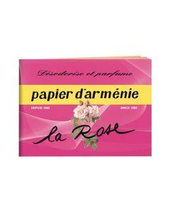 Papier d'Arménie Carnet à la Rose 12 Feuilles