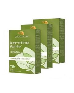Biocyte Pack Kératine Forte 40 Gélules X3