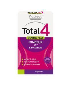 Nutreov Physcience Total 4 Ventre Plat Boite 30 Gélules