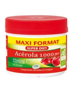 Super Diet Maxi Pot Acérola 1000 Bio 60 Comprimés