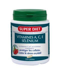 Super Diet Sélénium - Vitamines A.C.E -150 Gélules
