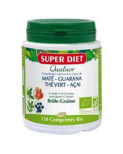 Super Diet Quatuor Mate Brule Graisse Bio - 150 Comprimés