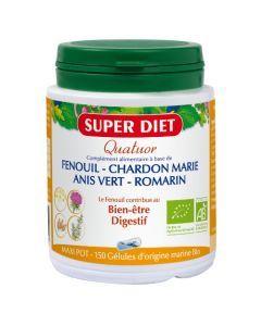 Super Diet Quatuor Fenouil Digestion Bio - 150 Gélules