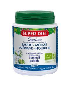 Super Diet Quatuor Mélisse Sommeil Paisible Bio - 150 Gélules