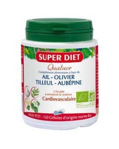 Super Diet Quatuor Ail Cardiovasculaire Bio - 150 Gélules