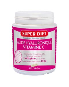 Superdiet Acide Hyaluronique + Vitamine C - 150 Gélules