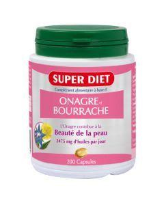 Super Diet Huile Onagre Et Bourrache - 200 Capsules