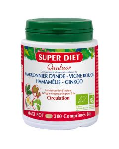 Super Diet Quatuor Vigne Rouge Circulation Bio -  200 Comprimés