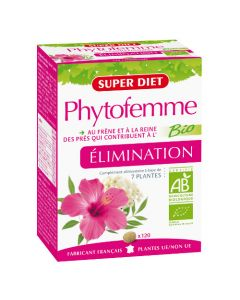 Super Diet Phytofemme Frêne Elimination De L'Eau Bio - 120 Comprimés