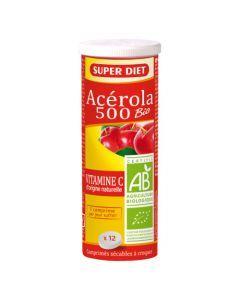 Super Diet Acérola 500 Bio -  Tube De 12 Comprimés à Croquer