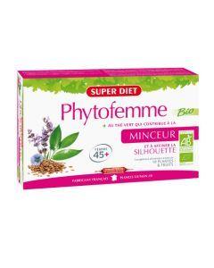 Super Diet Phytofemme The Vert Minceur Bio - 20 Ampoules de 15Ml