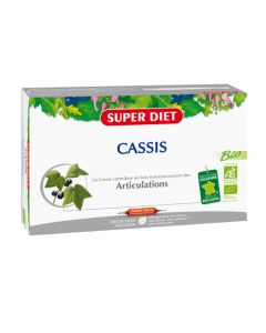 Super Diet Cassis Bio - 20 Ampoules de 15Ml
