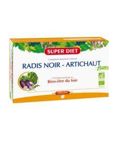 Superdiet Radis Noir - Artichaut Bio - 20 Ampoules de 15Ml