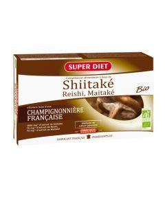 Super Diet Shiitake Reishi Maitake Bio - 20 Ampoules de 15Ml