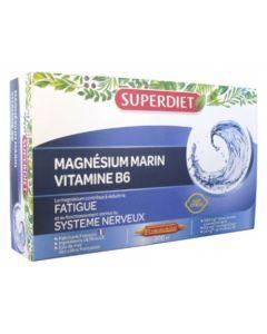 Superdiet Magnésium Marin + Vitamine B6 20 Ampoules