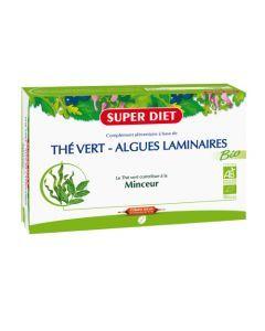 Superdiet The Vert - Algues Laminaires Bio - 20 Ampoules de 15Ml