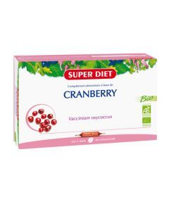 Super Diet Cranberry Bio - 20 Ampoules de 15Ml