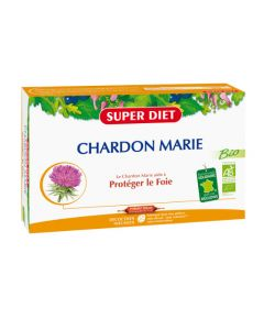 Super Diet Chardon Marie Bio - 20 Ampoules de 15Ml