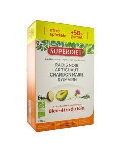 Super Diet Quatuor Chardon Marie Digestion Bio 30 Ampoules