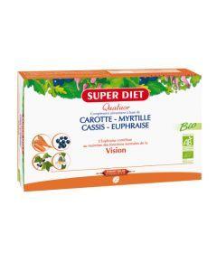 Super Diet Quatuor Euphraise Vision Bio - 20 Ampoules de 15Ml