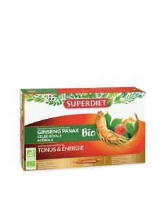 Super Diet Ginseng Gelée Royale Acérola Bio 20 Ampoules