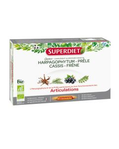 Super Diet Quatuor Prêle Articulations Bio 20 Ampoules