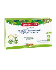 Super Diet Quatuor The Vert Minceur Bio - 20 Ampoules de 15Ml
