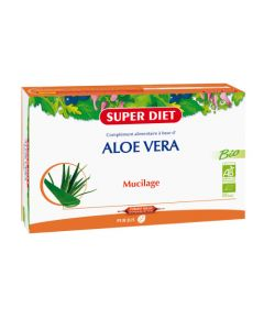 Super Diet Aloe Vera Bio - 20 Ampoules de 15Ml
