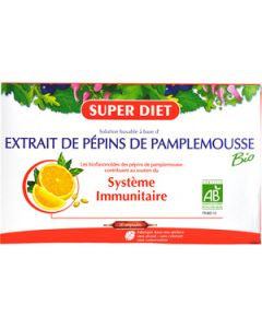 Super Diet Extrait de Pépins de Pamplemousse 20 Ampoules