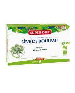 Super Diet Sève De Bouleau Bio - 20 Ampoules de 15Ml