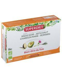 Superdiet Quatuor Chardon Marie Digestion Bio  20 Ampoules
