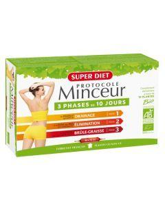 Super Diet Protocole Minceur Bio - 30 Ampoules de 15Ml