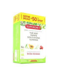 Superdiet Quatuor Guarana Brule Graisse Bio 20 ampoules+10 offertes