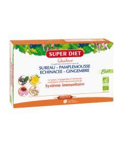 Super Diet Quatuor Sureau Immunité Bio -  20 Ampoules de 15ml