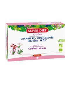 Super Diet Quatuor Reine Des Près Confort Urinaire Bio - 20 Ampoules de 15Ml