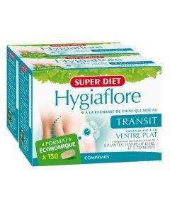 Superdiet Hygiaflore Rhubarbe Transit Lot De 2 - 2X150 Comprimés